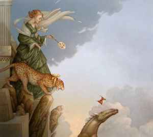 """""""Fearless"""" by Michael Parkes."""